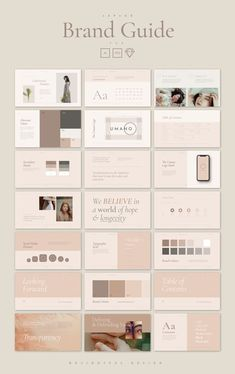 Speed up your branding process with the elegant branding guidelines template. 48 pages covering everything from typography to values. View it all now! Web Design, Website Design, Book Design, Design Ideas, Powerpoint Design Templates, Branding Template, Creative Powerpoint, Card Templates, Brand Manual