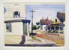 Edward Hopper (1882–1967) Untitled (Street Corner), 1923–24 Watercolor and graphite on paper
