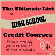 highschoolcreditcourses by SprittiBee