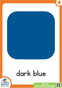Advanced Colors Flashcard Set - Dark Blue English Lessons, Learn English, Light In The Dark, Dark Blue, Color Flashcards, Free Coloring, 2 Colours, Green And Grey, Favorite Color