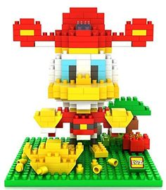 Little Treasures Loz diamond blocks featuring Donald duck daisy I-block fun compatible to Nanoblocks set - smaller then Lego parts - children's educational toy 320pcs New in original box ** Want to know more, click on the image.
