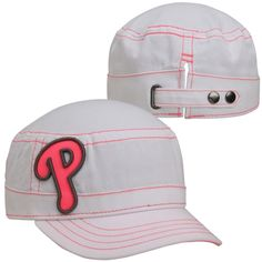lowest price 9883b ecfc9 New Era Philadelphia Phillies Women s Fashion Chic Cadet Adjustable Hat -  White