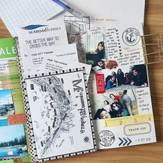 Sharing a #birthday page from my journal!  #midoritravelersnotebook #travel…