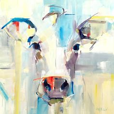 Abstract Cow Painting, original oil painting by artist Gina Brown www.GinaBrownArt.com