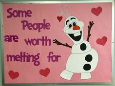 Olaf Valentine's Day Bulletin Board