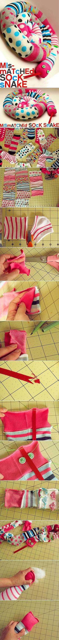 Chaussettes en tissu à la main bricolage recyclage recyclage des déchets