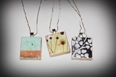 scrabble tile pendants #DIY