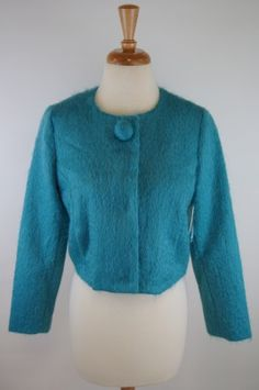 Milly Teal Jacket, Made in the USA
