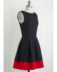 Closet | Luck Be A Lady Dress In Black And Red | Lyst