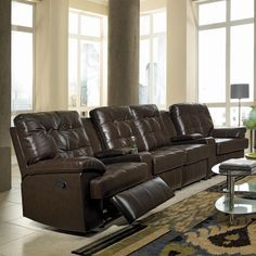 Coaster Fine Furniture Grace Home Theater Reclining Sectional at ATG Stores