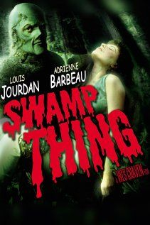 Directed by Wes Craven. With Louis Jourdan, Adrienne Barbeau, Ray Wise, David Hess. After a violent incident with a special chemical, a research scientist is turned into a swamp plant monster. Swamp Thing Movie, Swamp Thing 1982, Horror Movie Posters, Horror Films, Film Posters, Retro Posters, Sci Fi Movies, Scary Movies, Good Movies
