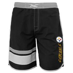 Pittsburgh Steelers Black Color Swim Trunks #steelers #nfl #pittsburgh