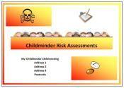 Risk assessment book for child care setting Www.childminding-treasures.com