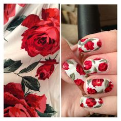 acceptcrime:  Dress-inspired Valentine's day nails. Just call me Monet (and don't mind my bad cuticles).