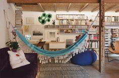 arquitrecos - blog de decoração: Rede na sala...Eu gosto e você?!!