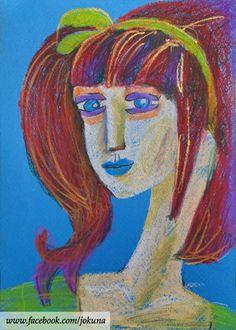 <빨간머리소녀, Girl of red hair, oil pastel, 2009>