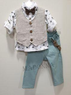 19A130 Little Boy Fashion, Kids Fashion, Baby Boy Dress, Waist Coat, Half Saree Designs, Baby Sewing, Kids Boys, Christening, Boy Outfits