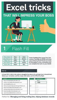 Infographic: Seven Excel Tricks That Will Impress Your Boss - DesignTAXI.com