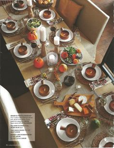 Fall tablescape from Crate and Barrel