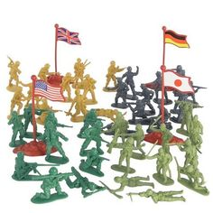 202 Piece Play Combat Soldier Set in Bucket by D & D Distributing. $16.33. USA, Canada, Germany, Japan. 202 Piece Mini Soldiers. 4 Countries with Flags. Convenient Bucket Holds All. This Playset includes 202 Mini Combat Soldiers! Enough Army Soldiers to plan out and stage your battlefield. Soldiers are from 4 countries along with their flags; USA, Canada, Germany, and Japan.