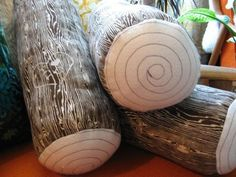 Etsy Find: Woodgrain Log Pillows by Norwegian Wood | Apartment Therapy