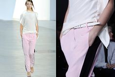 été 2012 - pastels - sport couture chez 3.1 Phillip Lim - coupes fluides et couleurs sorbet