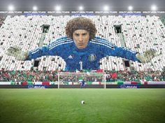 Memo Ochoa card stunt photo by Monte Isom #MemoOchoa #monteisom