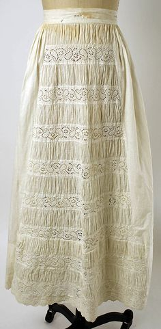 Petticoat Date: 1845–55 Culture: American or European Medium: [no medium available] Dimensions: Length (hem circum.): 144 in. (365.8 cm) Credit Line: Gift of Mr. Edwin J. Gutman, 1944 Accession Number: C.I.44.93.9