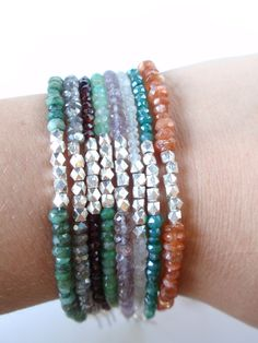 gemstone stack bracelets