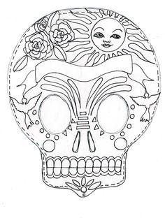 Catrinas Mexicanas, Tradiciones Mexicanas, Calaca Dia, Calavera, Noviembre, Dia De Los Muertos, Vertido, Clase, Imprimir