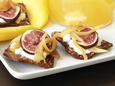 Mustard-Onion Jam Crackers With Figs recipe from Aida Mollenkamp via Food Network