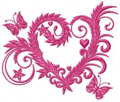 The Lace Hearts Collection includes five lace heart embroidery designs that will fit in the 4×4 hoop. Description from viembroidery.com. I searched for this on bing.com/images