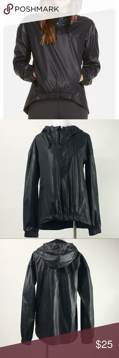 Fabletics Black Europa II Pullover Fabletics Black Europa II Pullover size XS in like new condition.  Fit: Relaxed Length: Hi-Low Hem, Front Above Hip Fabric: 100% Polyester  Features: Matte Shine, Waterproof Fabric, Drawstring Hood with Pull-stops, Invisible Zipper Pockets, Elastic Hem in Front, Half-Zip Pullover Style Fabletics Jackets & Coats