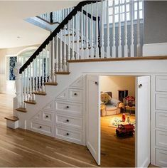 Playroom underneath the stairs.