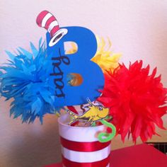 Image From Https://s Media Cache Ak0.pinimg. Baby Shower CenterpiecesParty  CenterpiecesCenterpiece IdeasDr Seuss ...