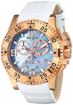 Invicta Women's 16100 Excursion Analog Display Swiss Quartz White Watch -- Read more at the image link.