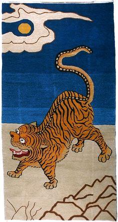 'Mongolian' Tiger Rug, 3'x6'