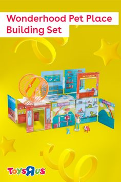 Imaginative, #STEAM-enhanced #play ahead! The Wonderhood Pet Place Building Set includes 12 panels, 39 stickers, a spinning #hamster wheel and more to let 'em create their very own #petshop!