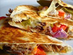 Roast Beef Quesadillas looks good. Great way to use leftover roast.