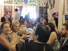 """Lançamento da linha """"Aquarela"""" Claudia Matarazzo - Porcelanas Schmidt  no Restaurante La Casserole. São Paulo"""