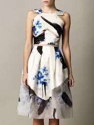 Geometric abstract floral perfection....Christopher Kane.