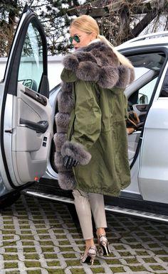 NEW 2015 American Parka FOX FUR Coat LIK Sable Chinchilla Royal Saga Mink Lynx | eBay