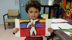 Inspired by Matisse. Collage, painting and Icarus centered!