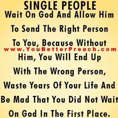 Single People....