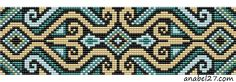 """Byzantine Tiles"" Motif Set of 2 Patterns for Loom Beadwork  #heartbeadwork  #loombeading"
