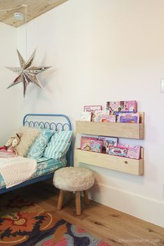 Easy Build Pocket Shelf @remodelaholic