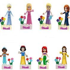 Friends Princess Building Blocks Toy Compatible with Friends For Girl 8pcs Lepine Mini Bricks Toys
