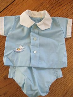 Vintage baby boy outfit.