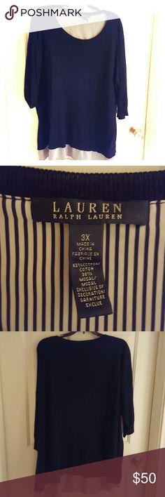 Ralph Lauren LRL Sweater Excellent used condition LRL sweater. Very comfortable. Navy Lauren Ralph Lauren Sweaters Crew & Scoop Necks