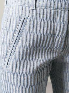 Carven Knee Length Jacquard Shorts - Profile - Farfetch.com
